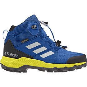 adidas TERREX Mid GTX Shoes Kinder blue beauty/grey one/shoyel